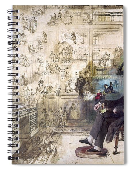 Charles Dickens 1812-1870.  To License For Professional Use Visit Granger.com Spiral Notebook