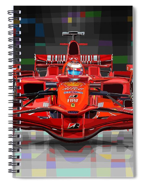 2008 Ferrari F1 Racing Car Kimi Raikkonen Spiral Notebook