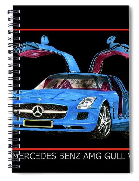 2010 Mercedes Benz S L S A Mg Spiral Notebook