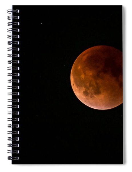 2015 Blood Harvest Supermoon Eclipse Spiral Notebook