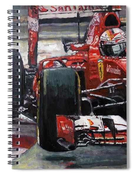 2015 Hungary Gp Ferrari Sf15t Vettel Winner Spiral Notebook