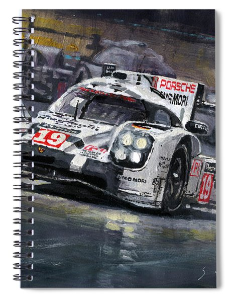 2015 Le Mans 24 Lmp1 Winner Porsche 919 Hybrid Bamber Tandy Hulkenberg Spiral Notebook