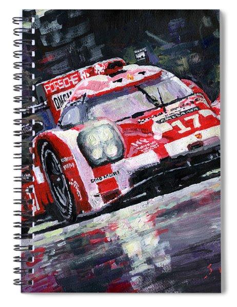 2015 Le Mans 24h Porsche 919 Hybrid Spiral Notebook