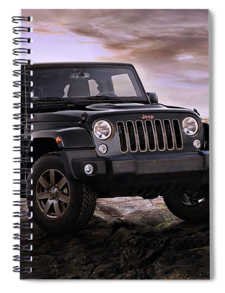 Spiral Notebook featuring the photograph 2016 Jeep Wrangler 75th Anniversary Model by Movie Poster Prints