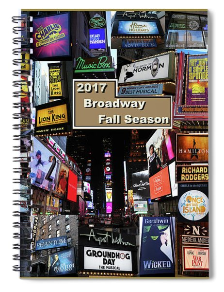 2017 Broadway Fall Collage Spiral Notebook