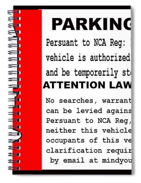 2018 Area 51 Parking Permit Spiral Notebook