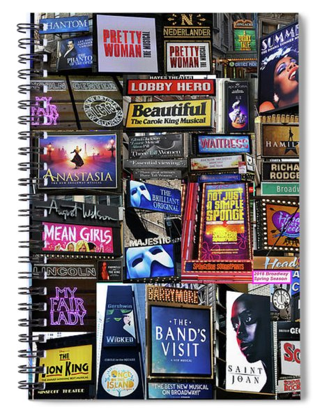 2018 Broadway Spring Collage Spiral Notebook