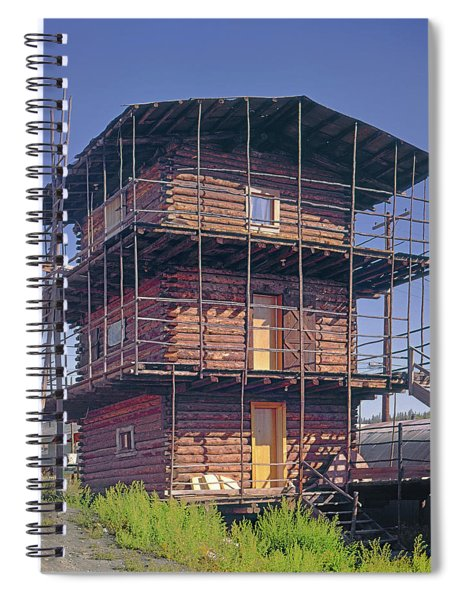 202015 Three Story Log Skyscraper Spiral Notebook