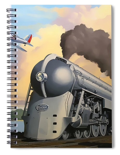 20th Century Limited And Plane Spiral Notebook