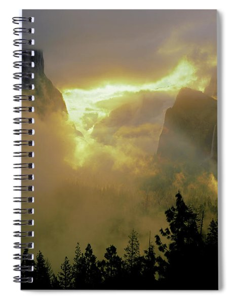 2m6633 Storm Over Yosemite Spiral Notebook