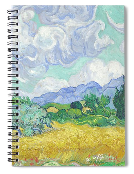 A Wheatfield, With Cypresses Spiral Notebook