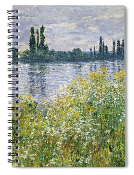 Banks Of The Seine, Vetheuil Spiral Notebook