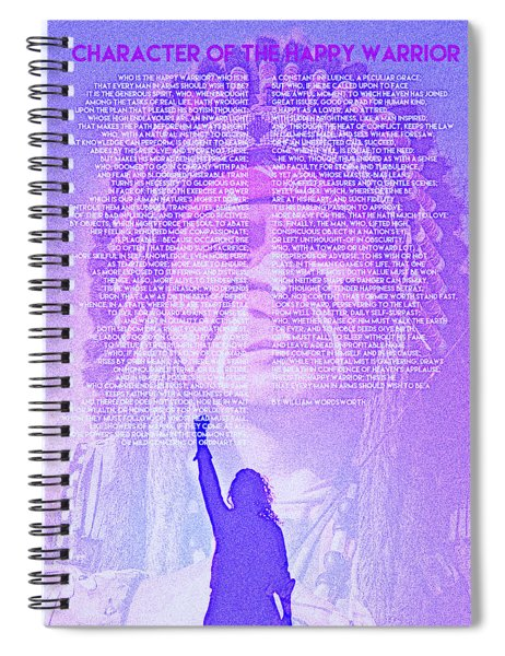 Character Of The Happy Warrior By William Wordsworth Spiral Notebook