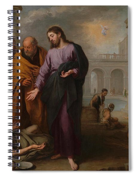 Christ Healing The Paralytic At The Pool Of Bethesda Spiral Notebook