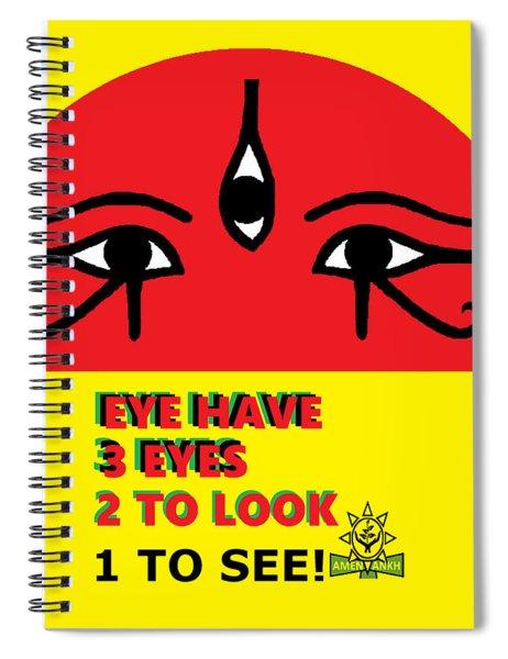 3 Eyes Spiral Notebook