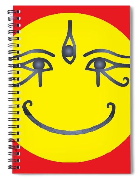 3 Eyes Smiling  Spiral Notebook