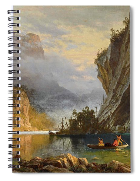 Indians Spear Fishing Spiral Notebook