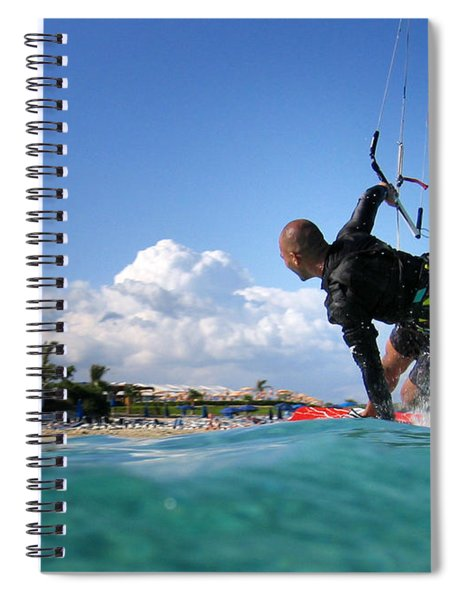 Kitesurfing Spiral Notebook by Stelios Kleanthous