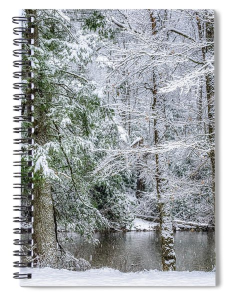 March Snow Along Cranberry River Spiral Notebook