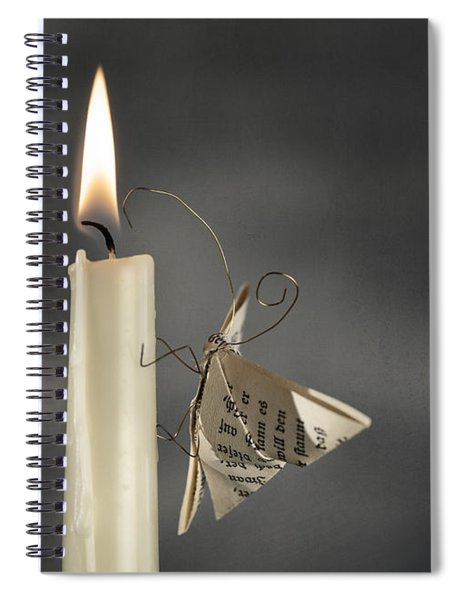Paper Butterfly Spiral Notebook