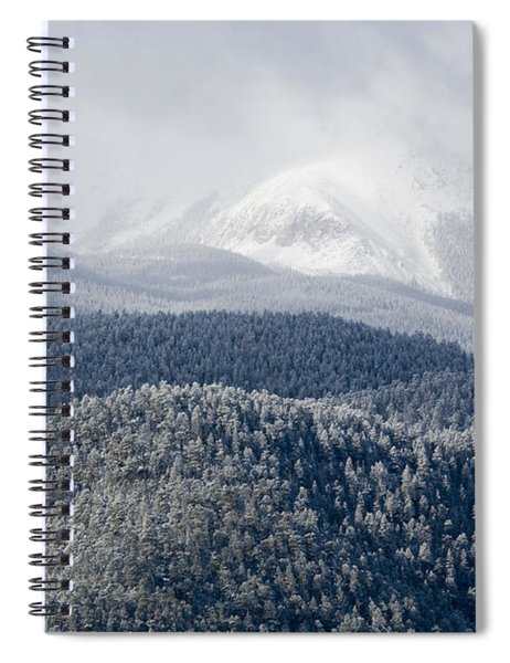 Pikes Peak In Snow Spiral Notebook