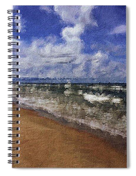 Seashore In Summer Spiral Notebook