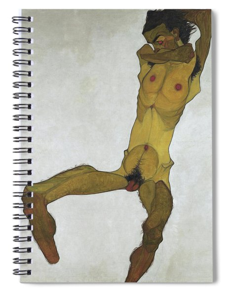 Seated Male Nude Spiral Notebook