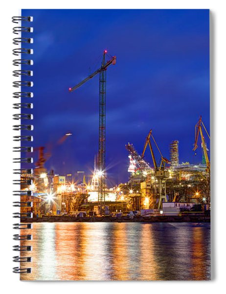 Shipyard At Work Spiral Notebook