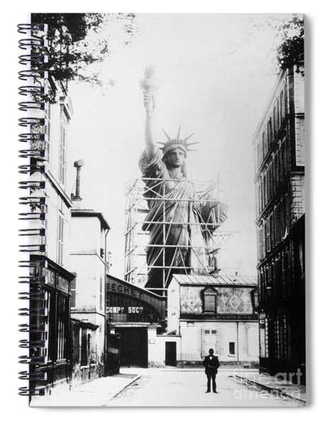 Statue Of Liberty, Paris Spiral Notebook