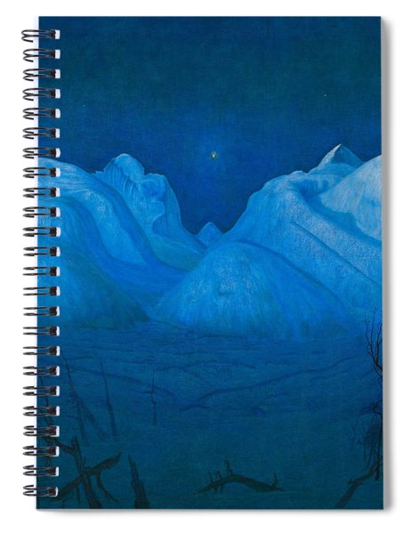 Winter Night In The Mountains Spiral Notebook