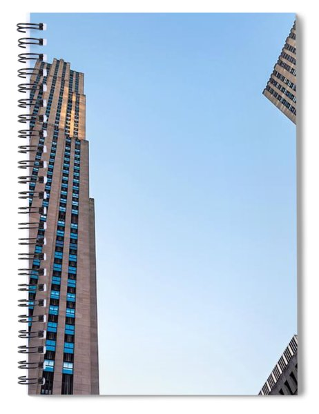 Spiral Notebook featuring the photograph 30 Rock by Alison Frank
