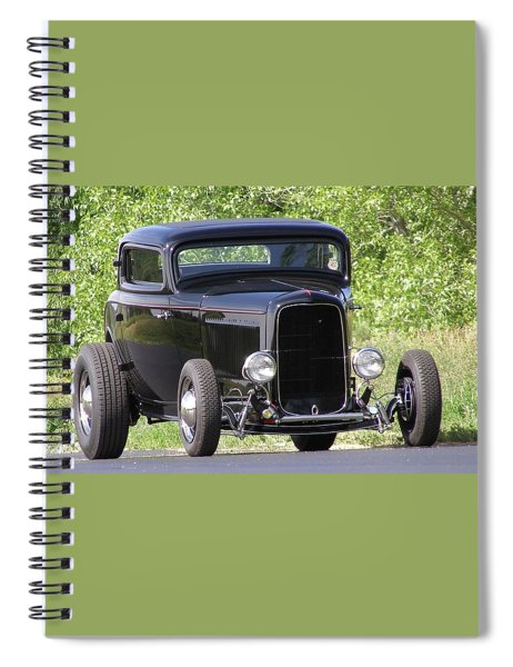 32 Three Window Classic  Spiral Notebook