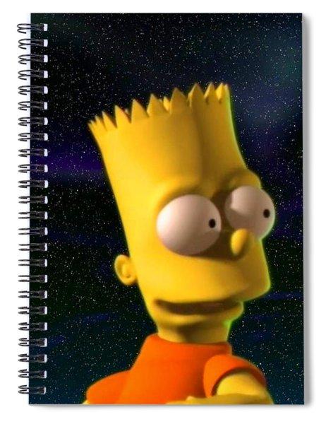 3d Bart Simpson Spiral Notebook