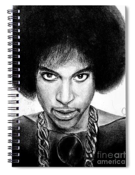 3rd Eye Girl - Prince Charcoal Portrait Drawing - Ai P Nilson Spiral Notebook