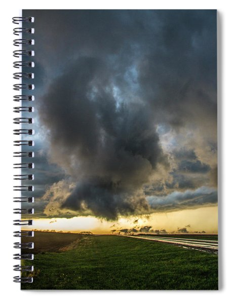 Spiral Notebook featuring the photograph 3rd Storm Chase Of 2018 050 by NebraskaSC
