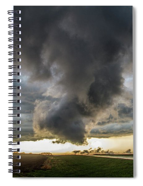 Spiral Notebook featuring the photograph 3rd Storm Chase Of 2018 051 by NebraskaSC