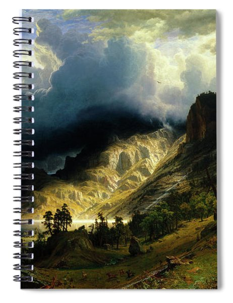 A Storm In The Rocky Mountains Spiral Notebook