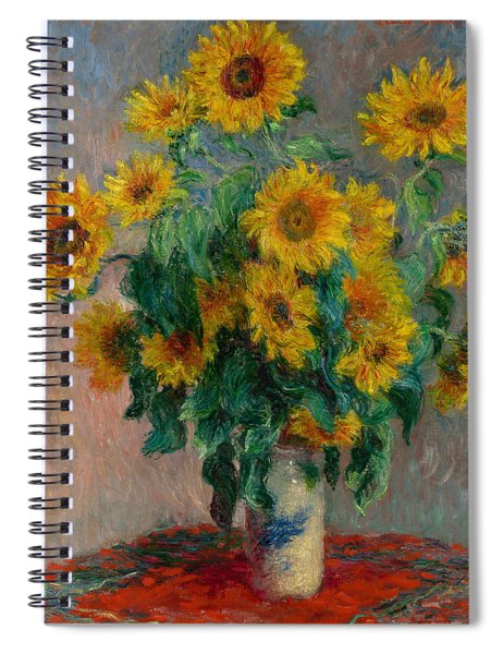 Bouquet Of Sunflowers Spiral Notebook
