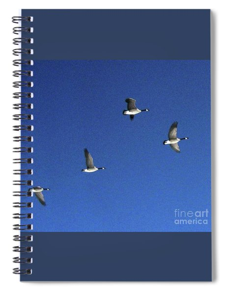 4 Geese In Flight Spiral Notebook