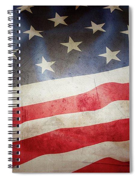Grunge American Flag 5 Spiral Notebook