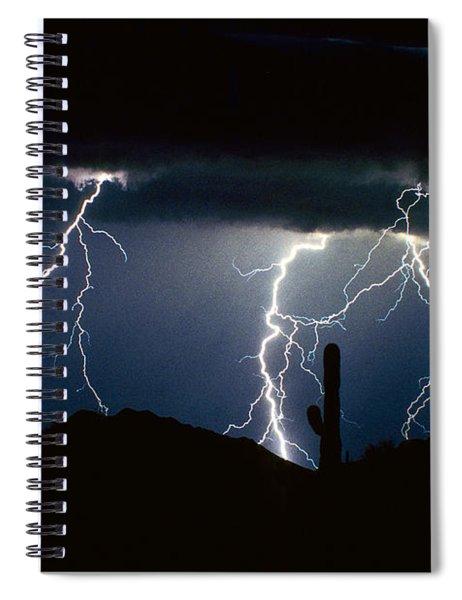 4 Lightning Bolts Fine Art Photography Print Spiral Notebook