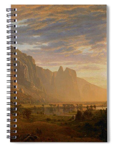 Looking Down Yosemite Valley Spiral Notebook