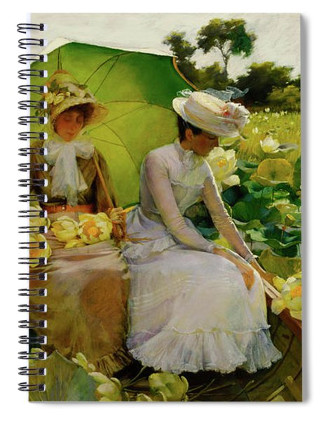 Lotus Lilies Spiral Notebook