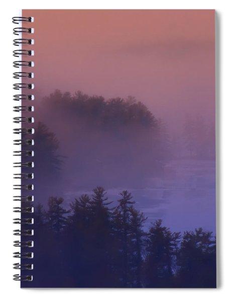 Melvin Bay Fog Spiral Notebook