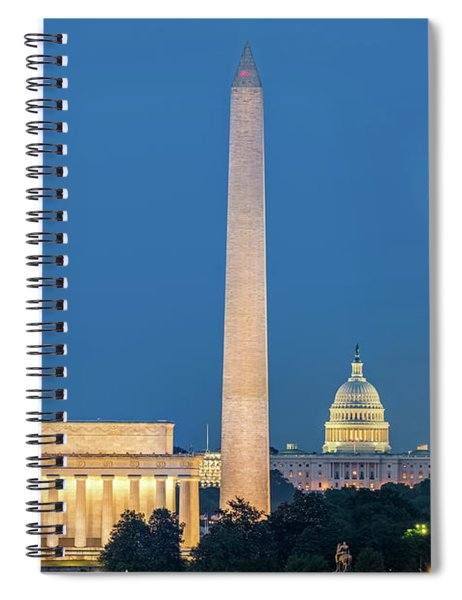 4 Monuments Spiral Notebook