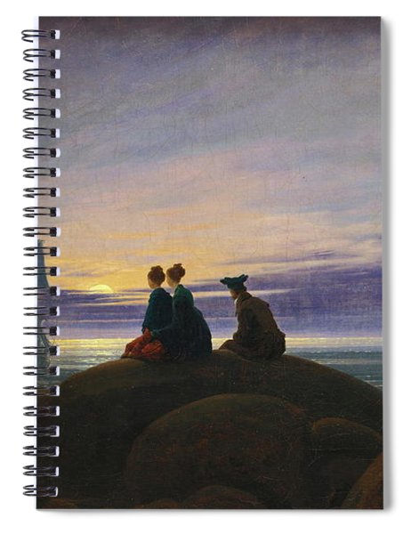 Moonrise Over The Sea Spiral Notebook