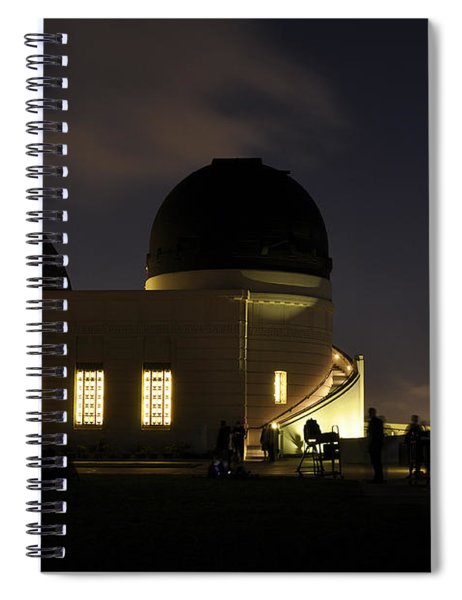 Night At Griffeth Observatory Spiral Notebook