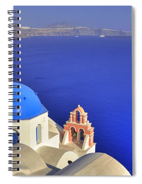 Oia - Santorini Spiral Notebook