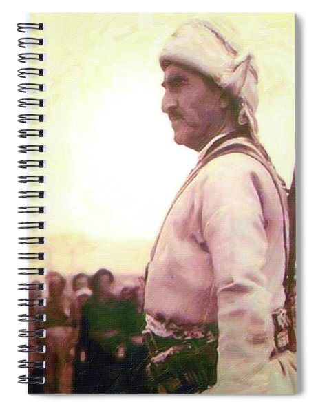 Portrait Of Melle Mutafa Barzani Spiral Notebook