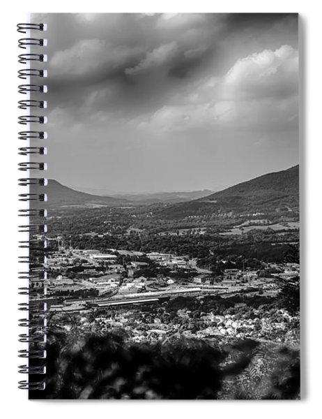 Roanoke City As Seen From Mill Mountain Star At Dusk In Virginia Spiral Notebook